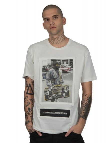 COMME DES FUCKDOWN t-shirt CDFU579 λευκό