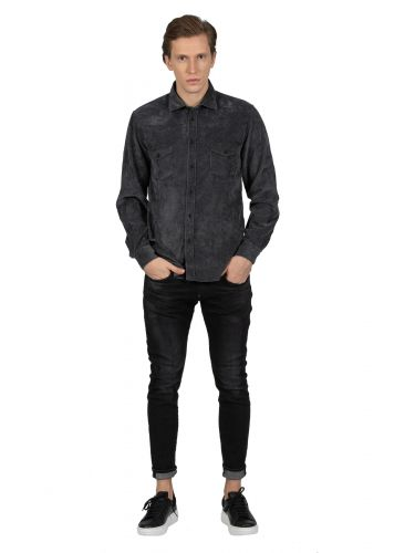 XAGON MAN shirt kotle AREESV black