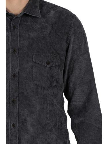XAGON MAN πουκάμισο κοτλέ AREESV μαύρο