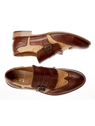 YES LONDON leather shoes CARLITOS2 VITELLO EBANO brown