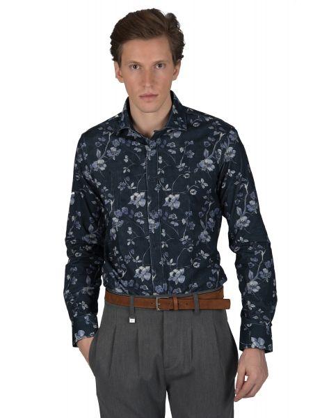 GUARDAROBA πουκάμισο κοτλέ PG-600/2802 μπλε