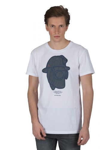 G-STAR RAW t-shirt GRAPHIC 10 R T D14671-B353-110 λευκό