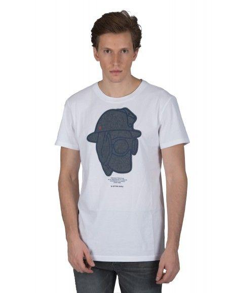 G-STAR RAW t-shirt GRAPHIC 10 R T D14671-B353-110 λευκό