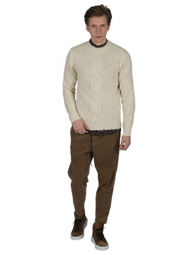 BESILENT MAN pullover BSMA0350 off white