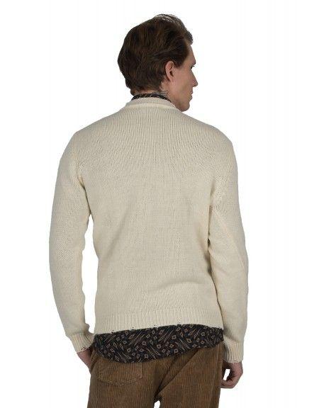 BESILENT MAN πουλόβερ BSMA0350 off white