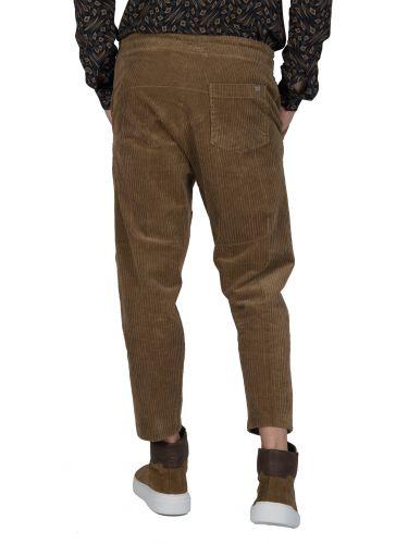 I AM BRIAN παντελόνι κοτλέ PA1086 καφέ