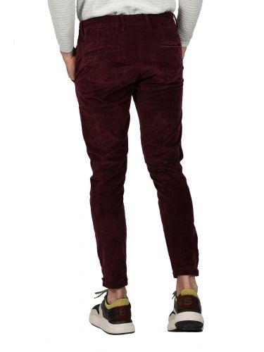 GABBA chino παντελόνι κοτλέ PISA CORD P4437 μπορντό
