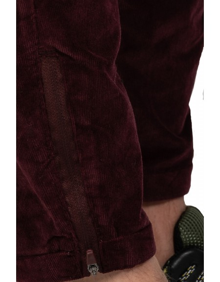 GABBA chino παντελόνι PISA CORD P4437 μπορντό