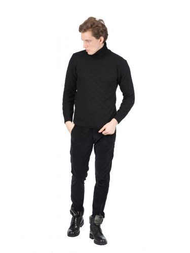 BESILENT MAN ζιβάγκο μπλούζα BSMA0318 μαύρο