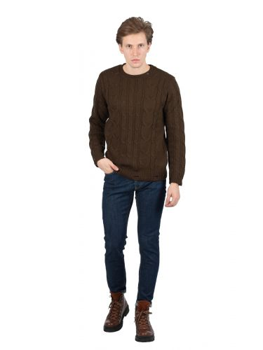 BESILENT MAN pullover BSMA0317 brown