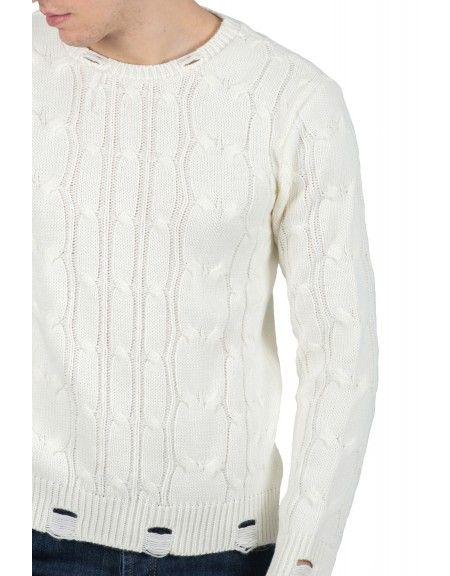 BESILENT MAN πουλόβερ BSMA0317 off white