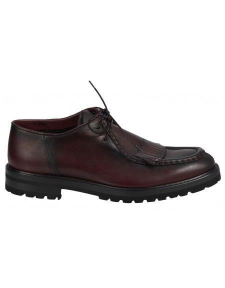 PER LA MODA δερμάτινο παπούτσι 1907XL μπορντό
