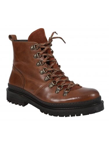 PER LA MODA leather boots 9449 brown