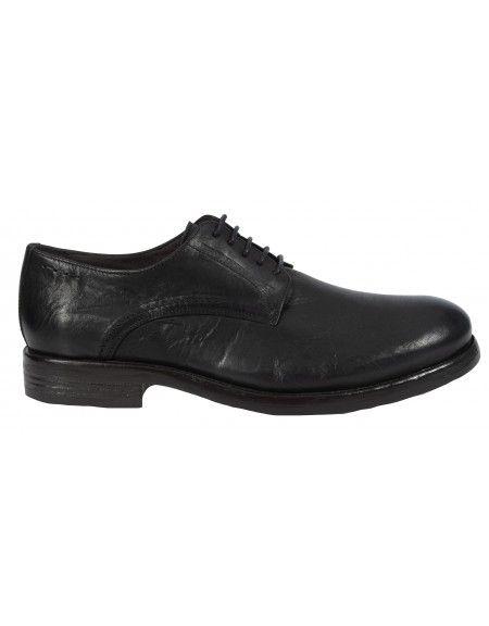 PER LA MODA δερμάτινο παπούτσι 9558 μαύρο