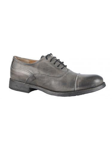 YES LONDON δερμάτινο παπούτσι GN03-VITVINT-YL-CY γκρι
