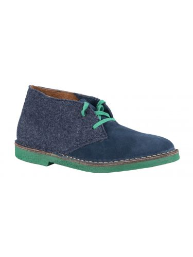 Wally Walker low boot Chukka Combi-301 blue-blue