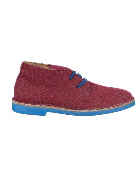 Wally Walker low boot Chukka 301 burgundy red