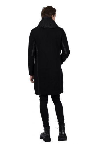 KRAKATAU παλτό QM222 μαύρο