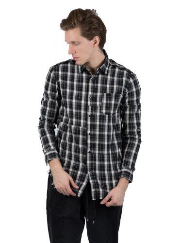OUTCOME πουκάμισο OT232Z μαύρο