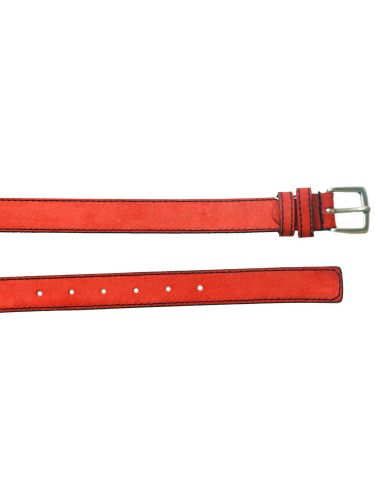 Gad καστόρινη ζώνη S496/1 κόκκινη