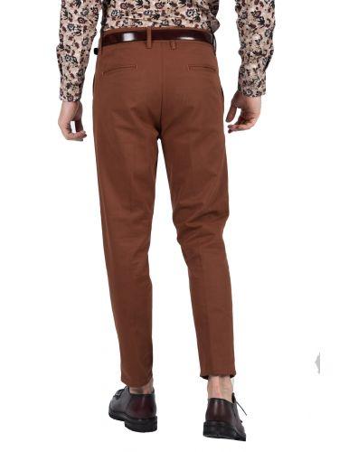 BESILENT MAN chino παντελόνι BSPA0321 καφέ