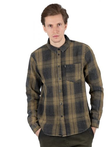 TIGHA shirt TOMA 104714 khaki-black