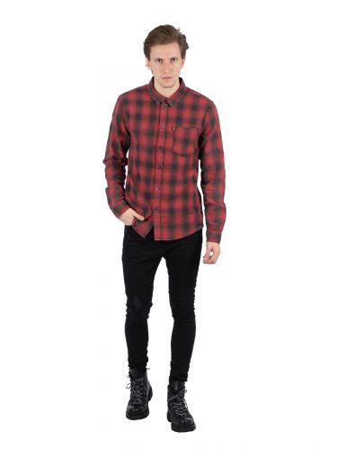 TIGHA πουκάμισο TOMA 104714 κόκκινο-μαύρο