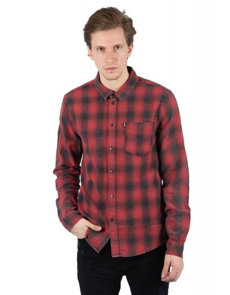 TIGHA πουκάμισο TOMA 104714 μπορντό-μαύρο