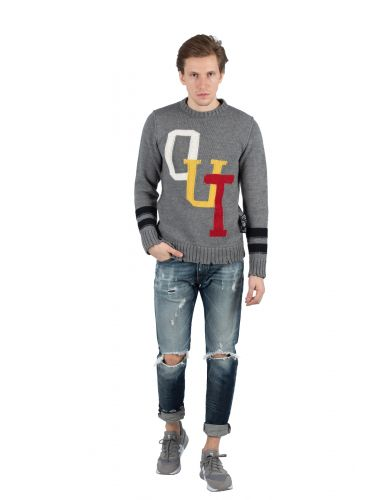 OUTCOME wool sweater BW717 grey
