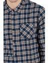 OUTCOME πουκάμισο OT130N μπλε-καφέ