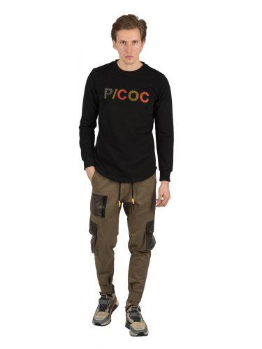 P/COC μπλούζα φούτερ P917 μαύρη