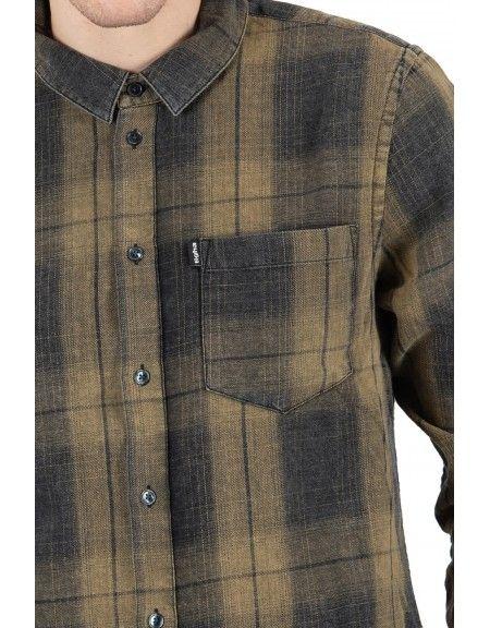 TIGHA πουκάμισο TOMA 104714 χακί-μαύρο