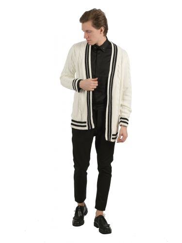 BESILENT MAN cardigan BSMA0314 white