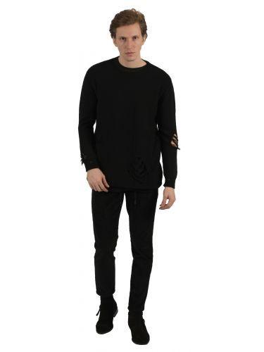 XAGON MAN chino παντελόνι κοτλέ PZARRA μαύρο