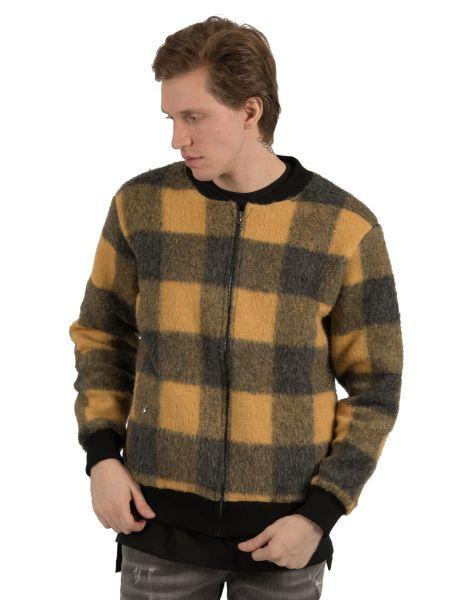 BESILENT MAN μπουφάν BSMA0328 κίτρινο-μαύρο