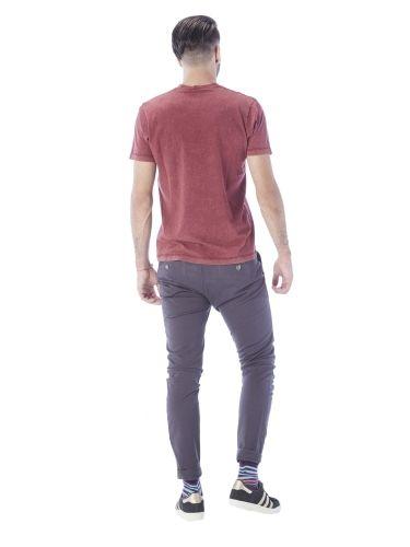 TREZ chino παντελόνι 113M36669-146 γκρι