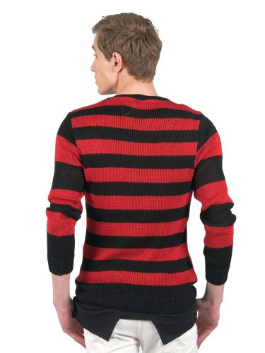 BLACK CIRCUS blouse BC902 red-black