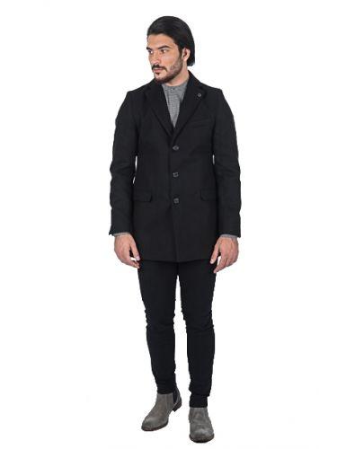 BESILENT MAN παλτό BSCT0040 μαύρο