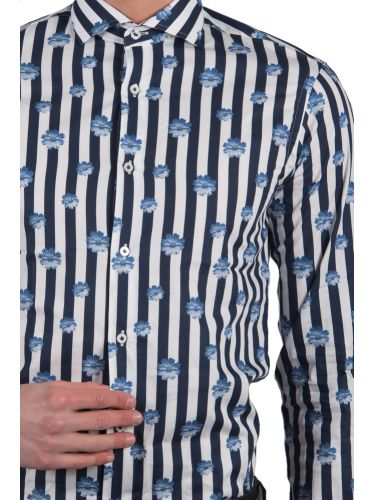 GUARDAROBA πουκάμισο PG-600/2746 λευκό-μπλε