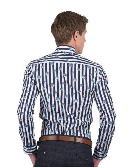 GUARDAROBA shirt PG-600/2746 white-blue