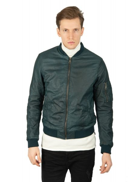 MAYS AND ROSE leather jacket ROBIN SHEEP OLILY blue
