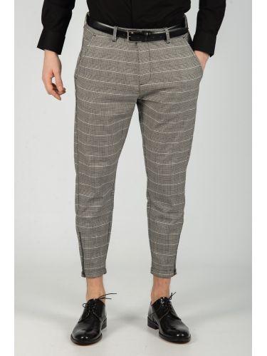 GABBA trouser chino PISA PETIT CHECK P4649 brown