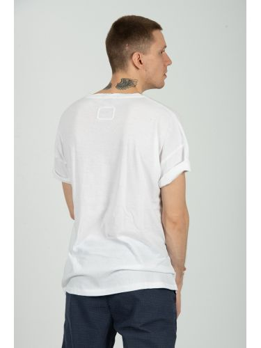 TIGHA t-shirt HUMMINGBIRD MSN 105259 λευκό