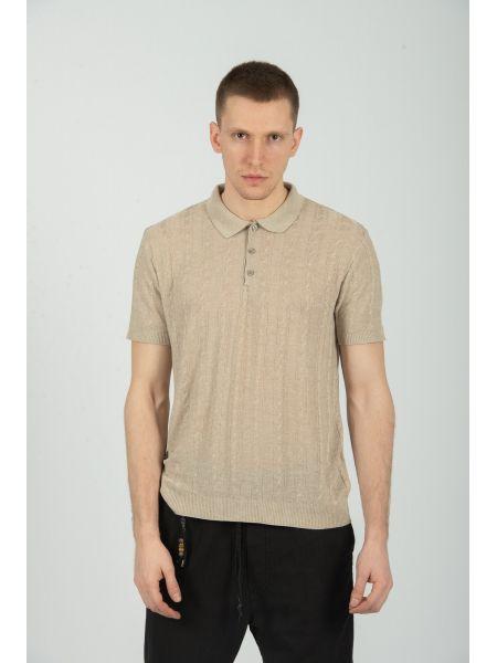 XAGON MAN t-shirt J01202 μπεζ