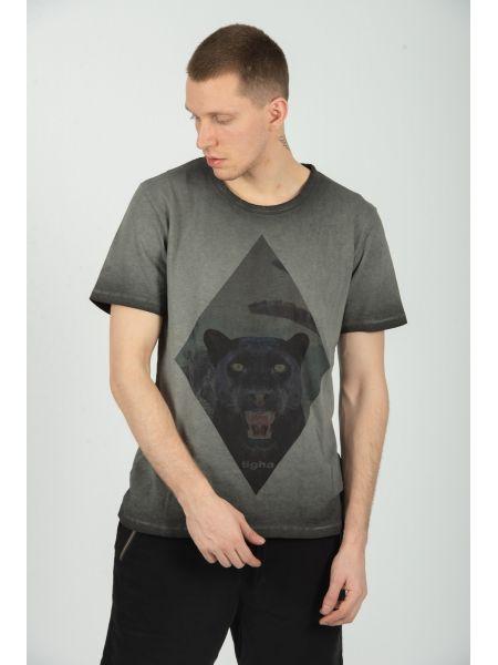 TIGHA t-shirt HISSING PANTHER MSN 105254 grey