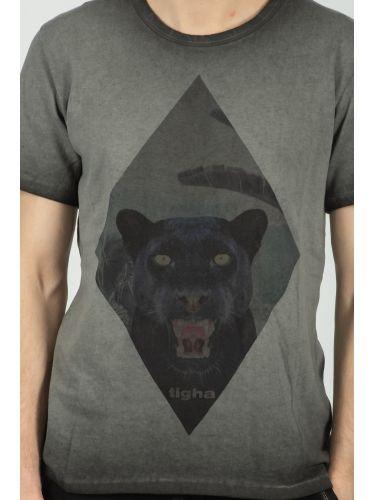 TIGHA t-shirt HISSING PANTHER MSN 105254 γκρι