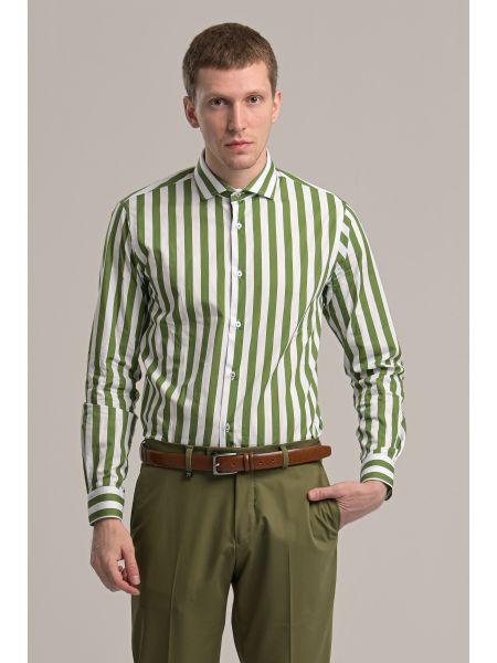 GUARDAROBA shirt GU-400/01 white-green