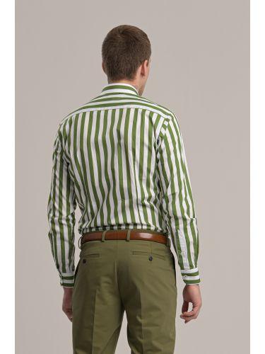 GUARDAROBA πουκάμισο GU-400/01 λευκό-πράσινο