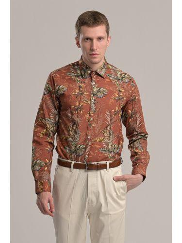 GUARDAROBA πουκάμισο GU-600/01 κεραμιδί