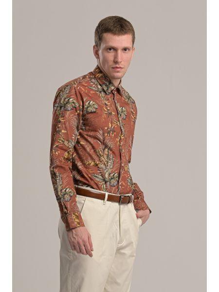 GUARDAROBA shirt GU-600/01 brick red